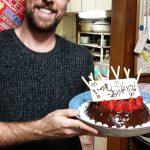 I made a cake. I am happy about said cake.